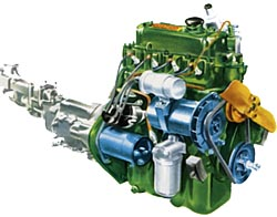BMC A Series Engine Drawing