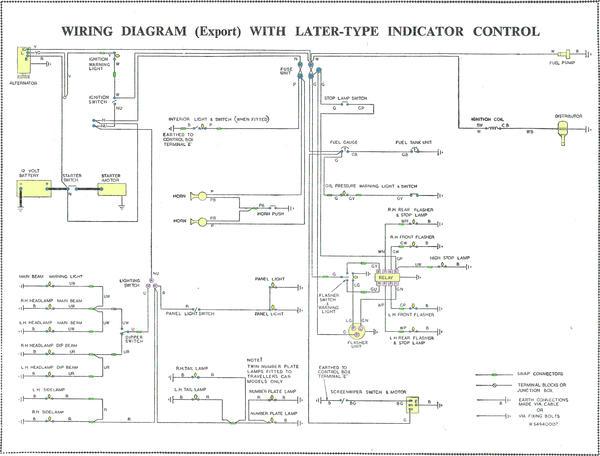 Morris Minor Wiring Diagram : Alternator conversion and control box modified minors
