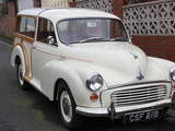 1963 Morris Minor Traveller Old English White Peter Fearby
