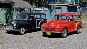 Pair of Morris Minor Travellers, Northwest US